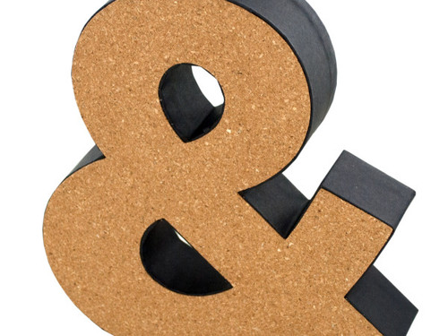 '&' Decorative Cork Board Symbol