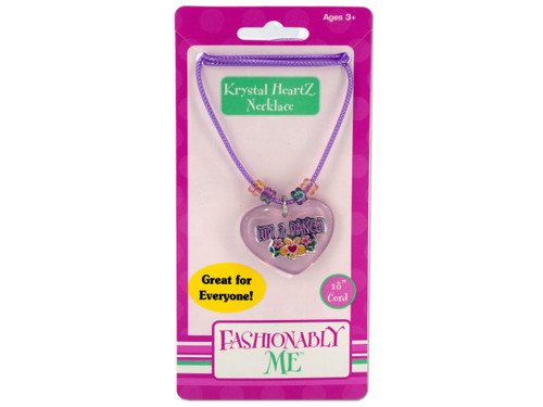 """""""Luv 2 Dance"""" heart necklace"""