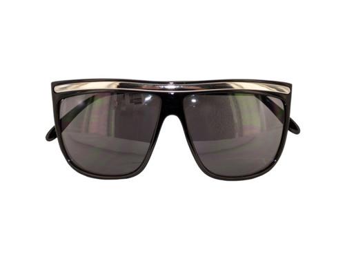 Black/Silver Paparazzi Shield Slim Sunglasses