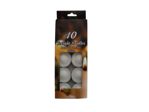 Tealight candles, pack of 10