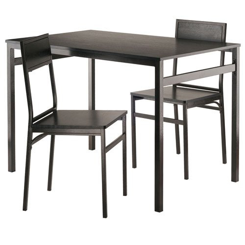 Winsome Wood 20343-WW Furniture Piece Milton 3-Pc Set Dining Table w/ Chairs