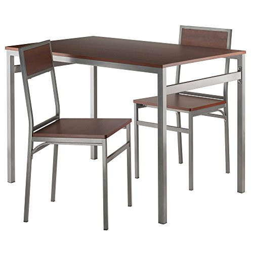 Winsome Wood 93343-WW Furniture Piece Milton 3-Pc Set Dining Table w/ Chairs