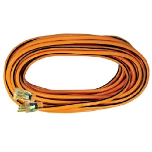 50' Heavy Duty Outdoor Extension Cord - Black/Orange