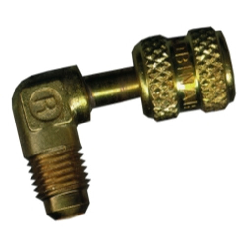 """1/4"""" MFL x 3/16"""" FF 90 Degree Solid Brass Adapter"""