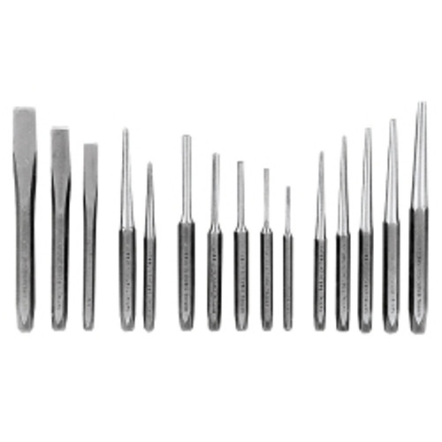 15 Piece Punch and Chisel Set In Kit Bag
