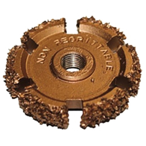 "Copper Buffout Wheel (16 Grit) 2"" x 1/2"" (50 x 13mm), AH 3/8"" x 24 Thread"