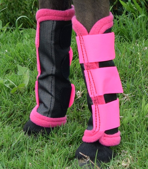 Horse Fly Mesh Boots Set of 4 Purple /& Black Australian Made Summer Protection
