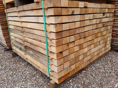 HARDWOOD FRESH SAWN ENGLISH OAK POST / BOARD BEAM OFFCUT ( GRADE 1 )
