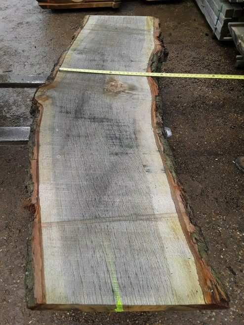 HARDWOOD SAWN ENGLISH WANEY EDGE / LIVE EDGE OAK SLAB / BOARD / TABLE