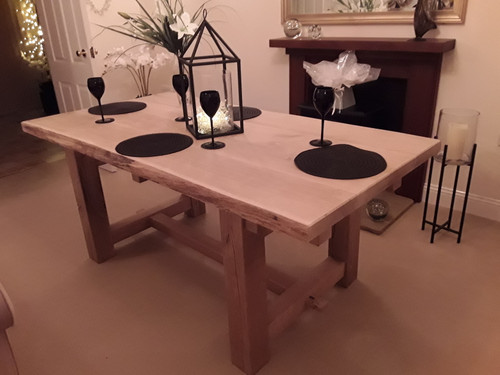 'THE CATHEDRAL' HARDWOOD RUSTIC FARMHOUSE ENGLISH OAK TABLE