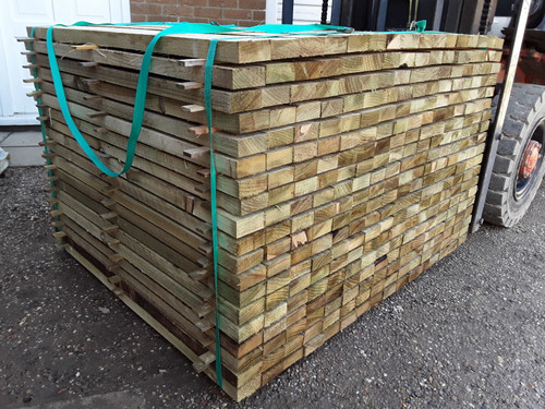 SOFTWOOD SAWN MIXED LARCH / DOUGLAS FIR TREATED PALLINGS / TIMBER