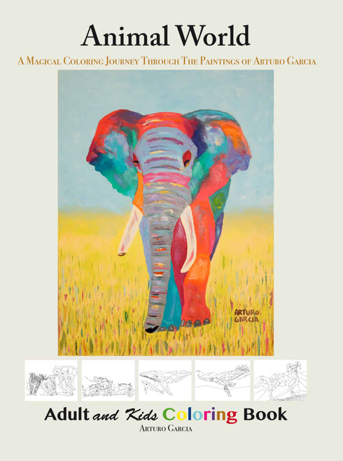AG Animal World Coloring Book