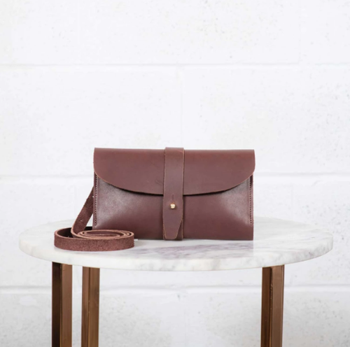 US The Crossbody Wallet - Brown Leather