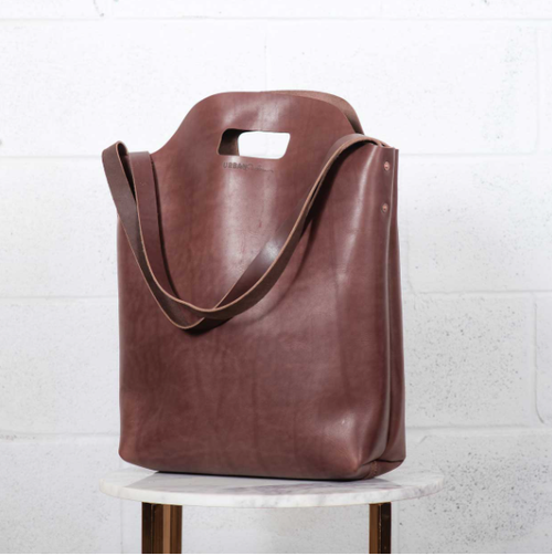 US Market Tote - Brown Leather