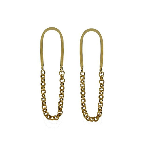 DP Chain Link Dangles Mirror Polished Brass