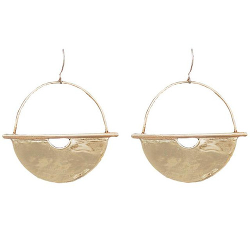 DP Athena Hoops 3in Brass