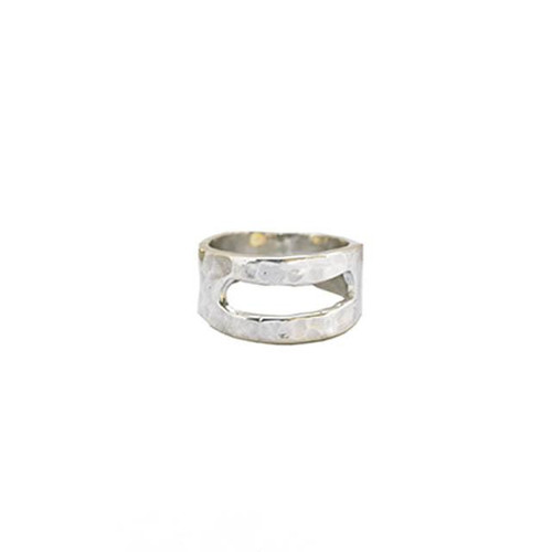 Open Rectangle Ring Silver 8