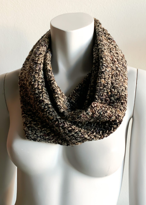 RV Mustard and Navy Plaid Cowl