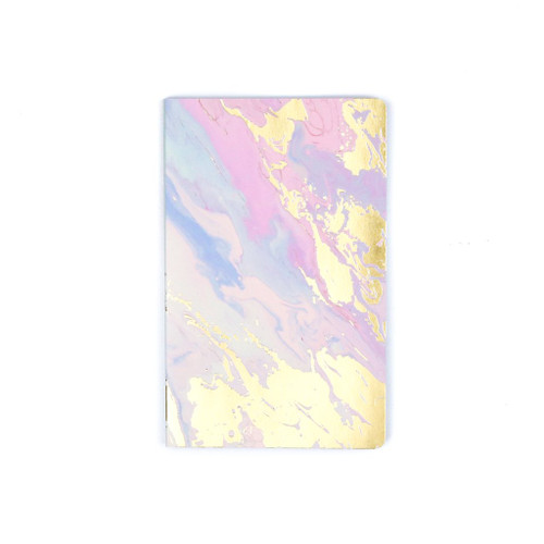 D Melted marble lay flat journal lined