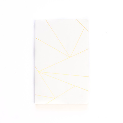 D Geo white lay flat journal lined