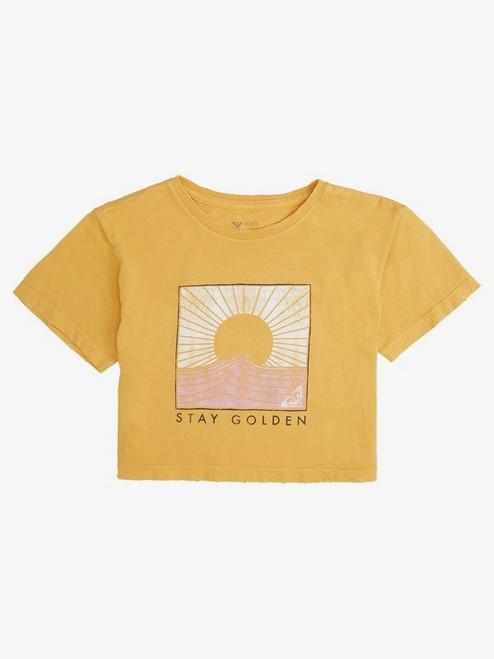 Girl 8-16 Stay Golden Crop Tee