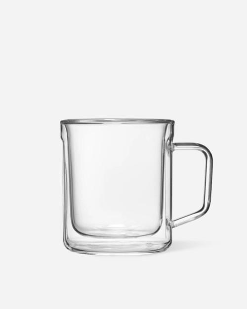 12oz Mug Glass (x2) - Clear