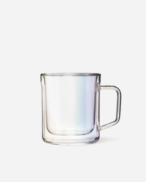 12oz Mug Glass (x2) - Prism
