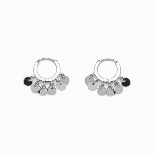 Mini Coin Huggie Earrings