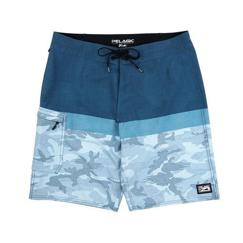 Blue Water Fishong Shorts-Kids
