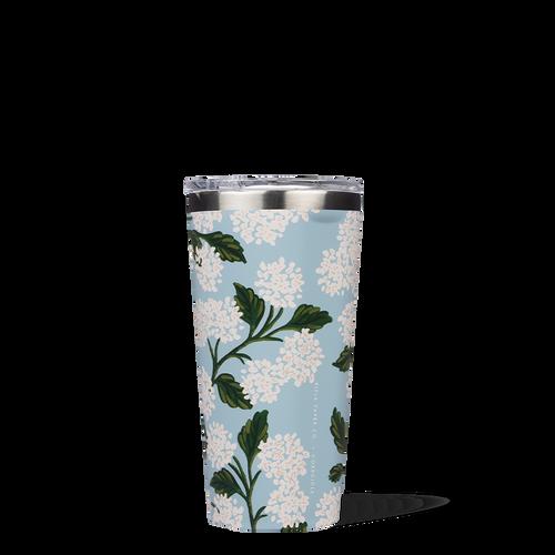 16oz Tumbler Blue Hydrangea