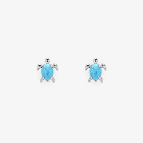 Opal Sea Turtle Earring