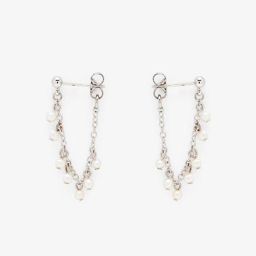Pearl Chain Wrap Earrings