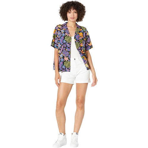 High-Rise Roll Cuff Shorts