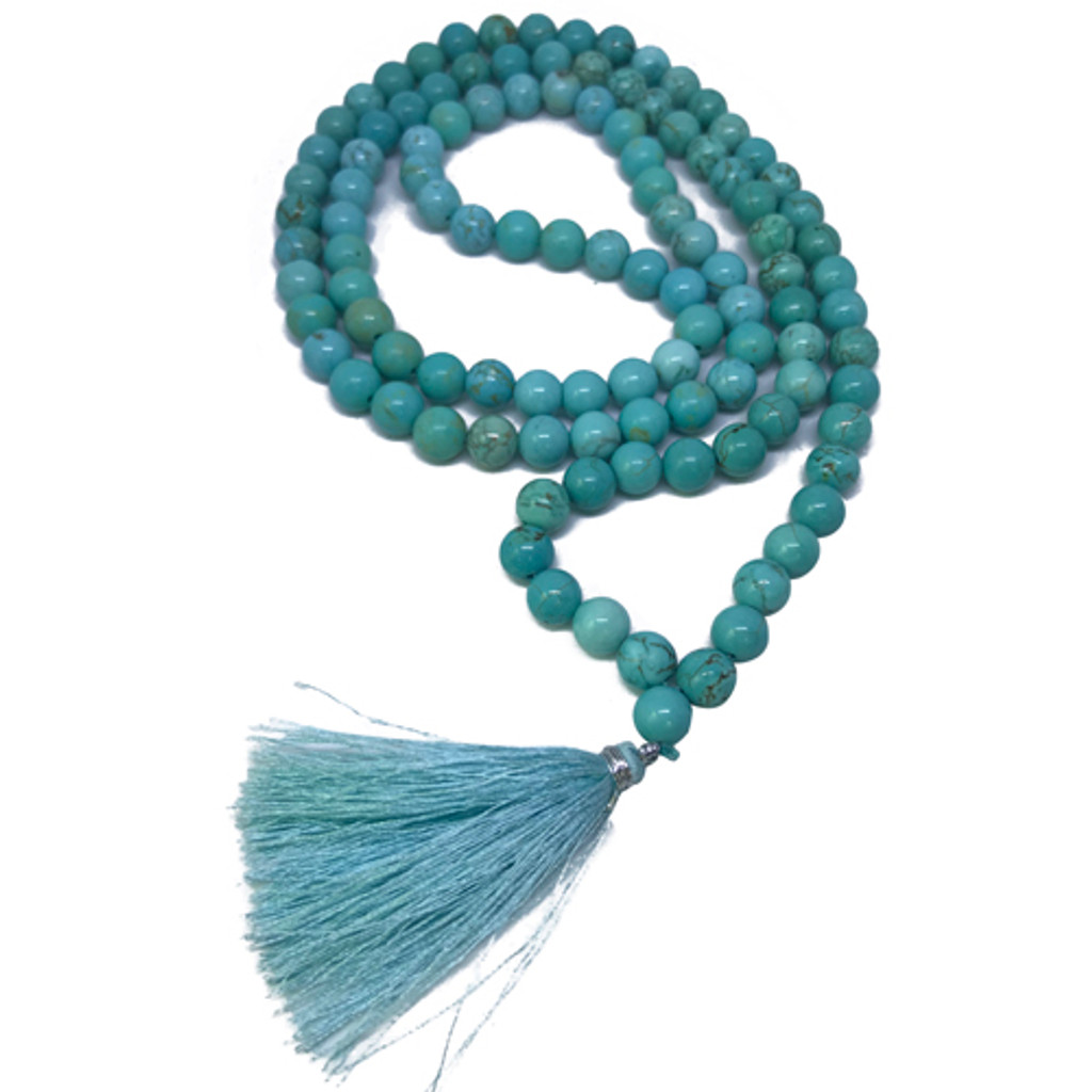 Mala Necklace Turquoise Gemstone