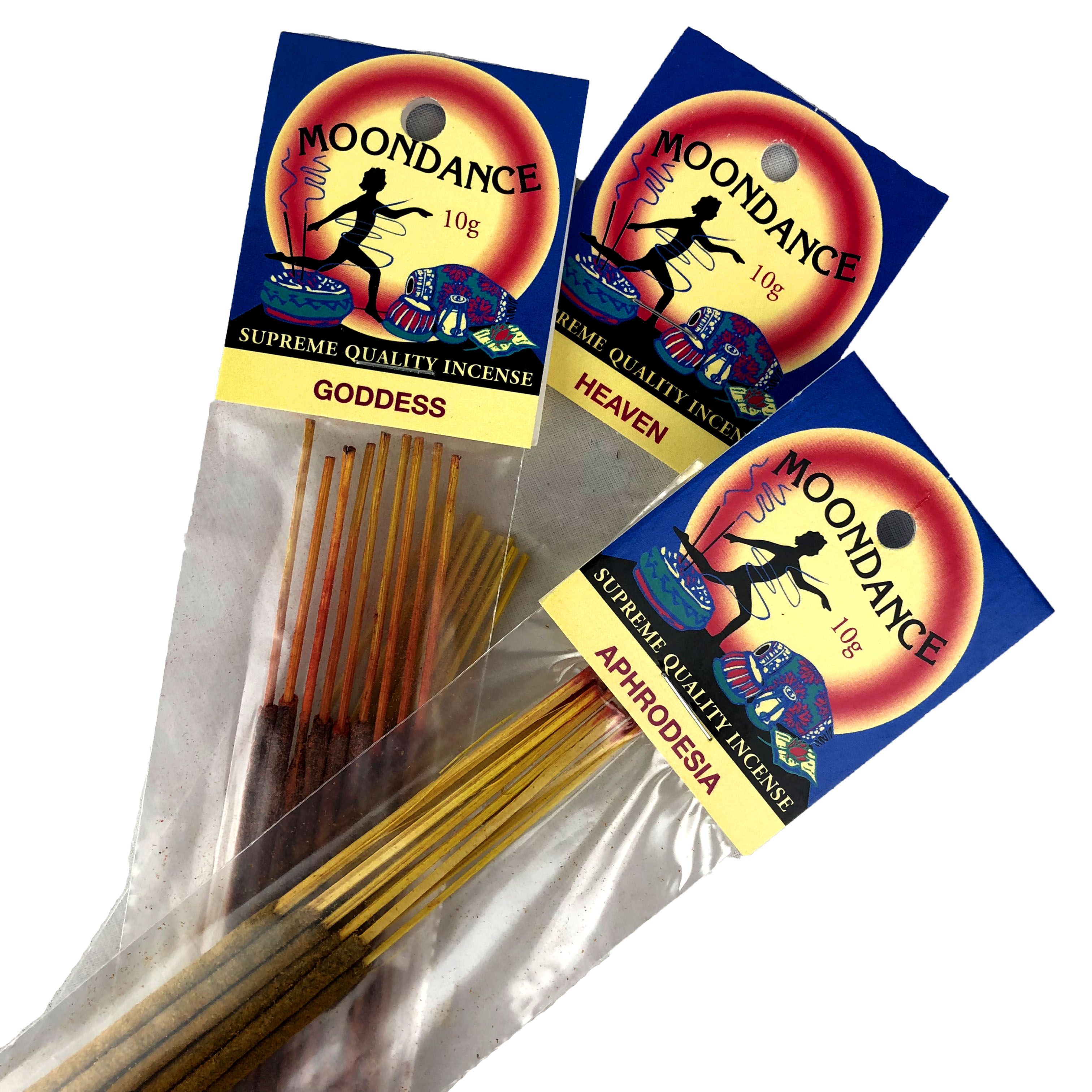 Moondance  Incense 10 g  (Min of 6 pkts) for FREE SHIPPING AUST ONLY