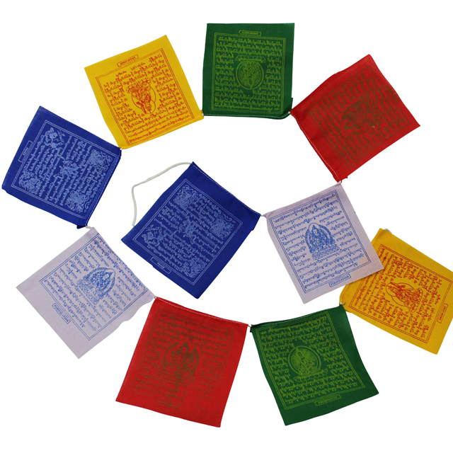 Tibetan Prayer Flags 100% Cotton - 16 x 18 cm