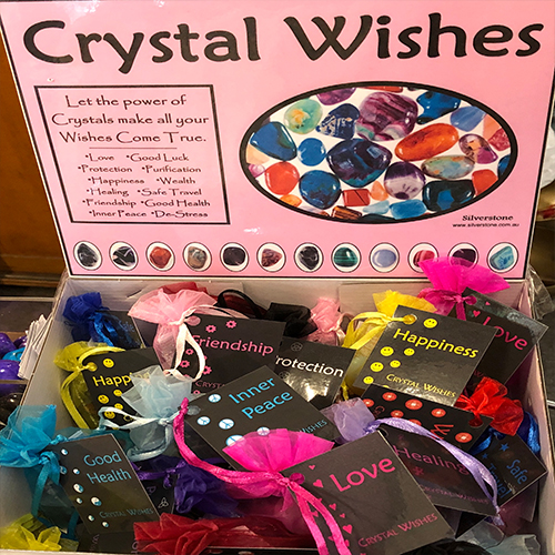 Crystal Wishes Gift Bags with 3 Stones