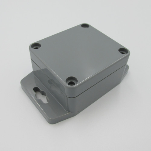 Grey Enclosure 64L-58W-35H With Flange, made of ABS (acrylonitrile butadiene styrene).