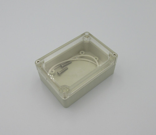 Enclosure - 85x58x33mm With Clear Cover. High quality & durable enclosure with waterproof seal and transparent lid.