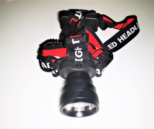 Black 3W LED Headlamp used for camping and outdoors