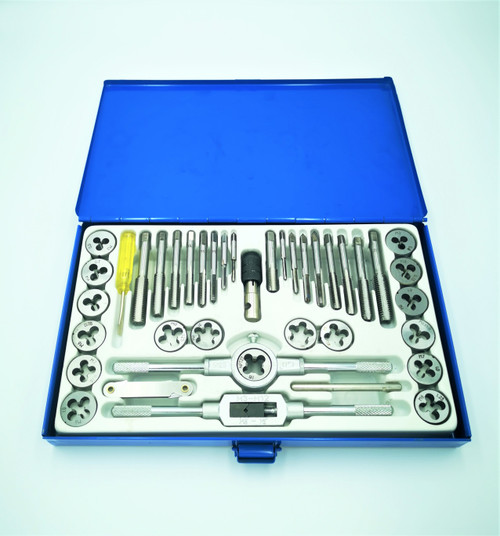 40Piece Metric Tap and Die Set. Made from heat treated alloy steel and supplied in metal case.