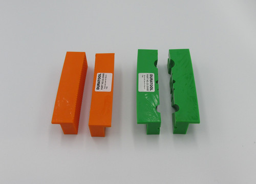 Soft Jaw Bundle - 1xFlat & 1xGrooved Soft Vise Jaws. Protect your work from damage while clamping.