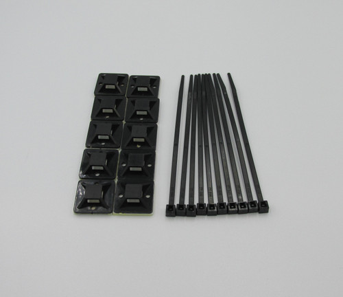 10 Pack of Self Adhesive Cable Tie Mounts & Cable ties. Tidy up all your cables with ease