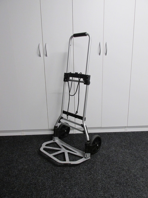 90kg Foldable Hand Trolley. Easy opening sturdy hand trolley that is light weight and folds down to fit in the boot of your car.