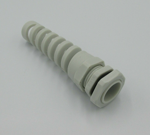 Grey Nylon Cable Gland PG11 Thread with Strain Relief (5-10mm cable)