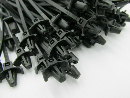 High Quality Push Mount White Cable Ties, 190mm x 4.8mm (100pack). These are commonly used in automotive applications for attaching looms to a hole in the panels.