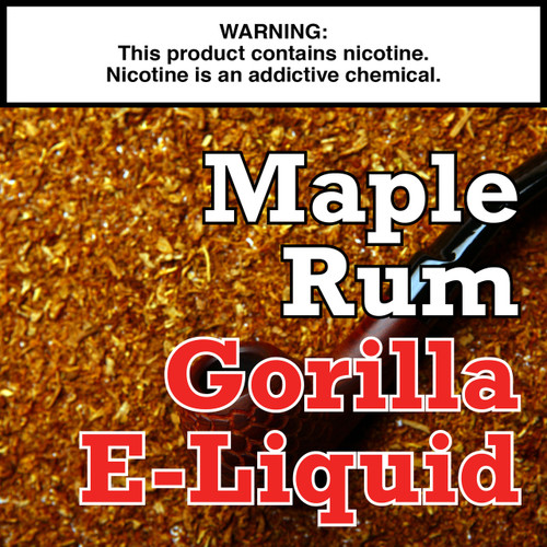 Maple Rum Tobacco Gorilla Eliquid
