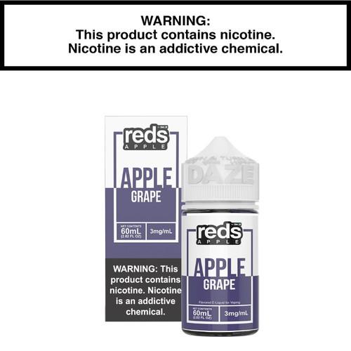 New 7daze Reds Apple Grape Eliquid Packaging.