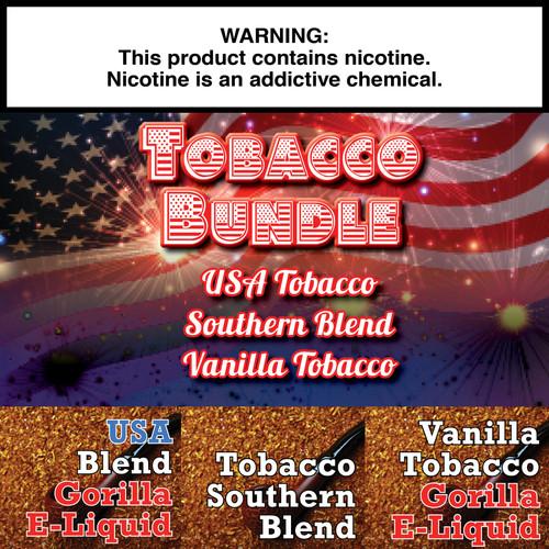 Tobacco Gorilla Eliquid Bundle  - 180ml