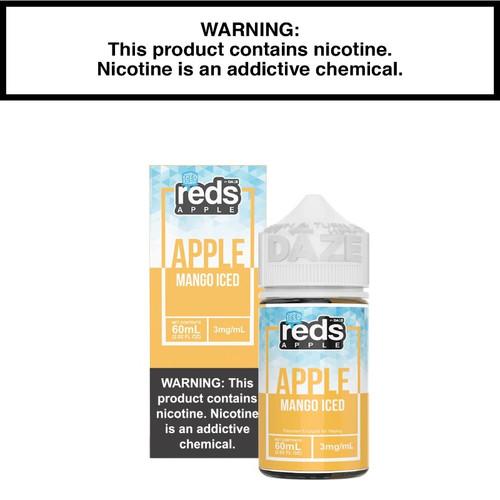 New 7daze Reds Apple Mango Ice Eliquid Packaging.